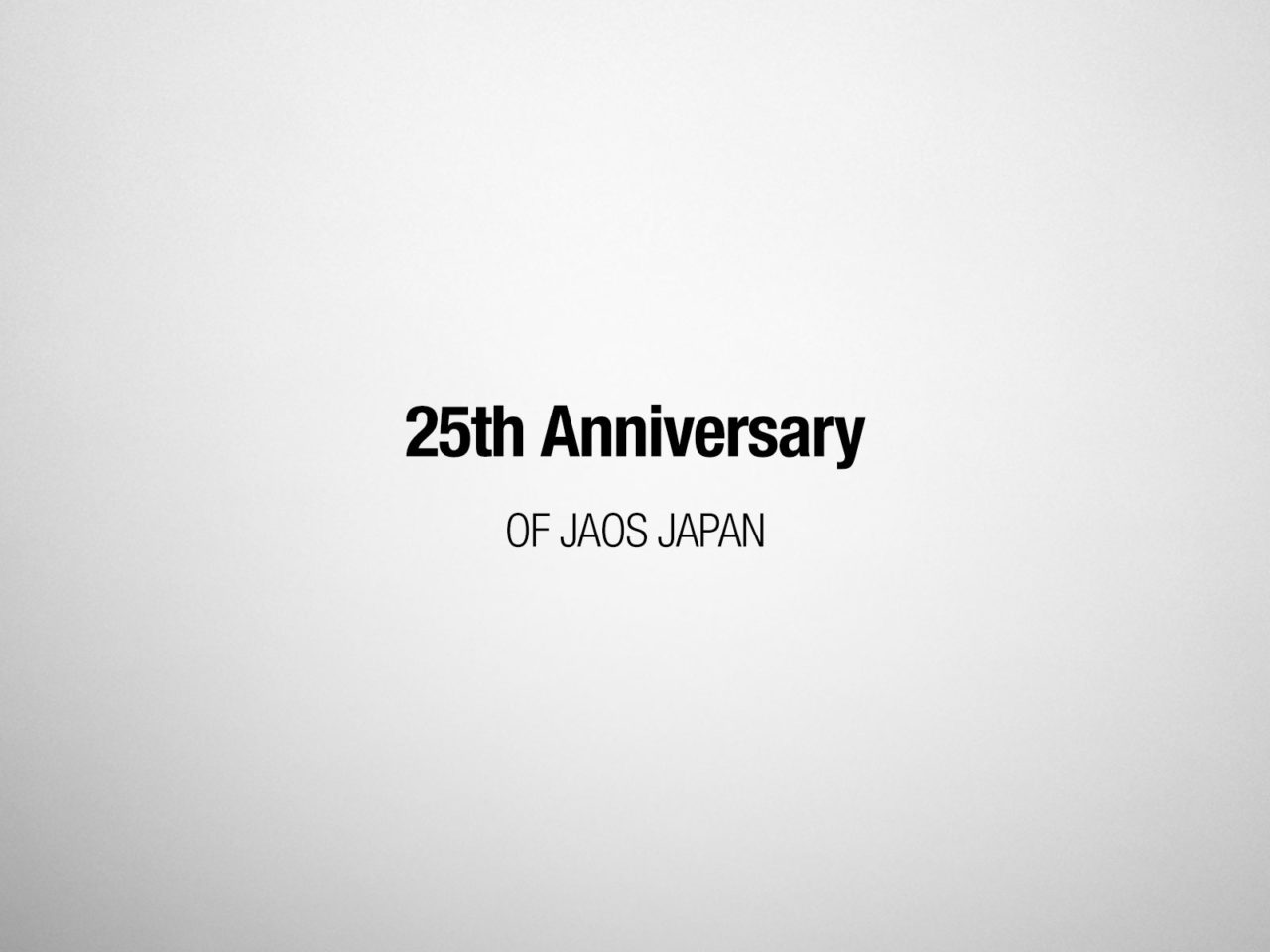 25th Anniversary of JAOS Japan